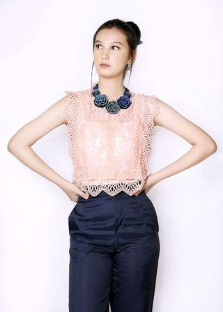 AFFNIQCHIC Tristine /Women Fashion Embroidered Crop Top Blouse