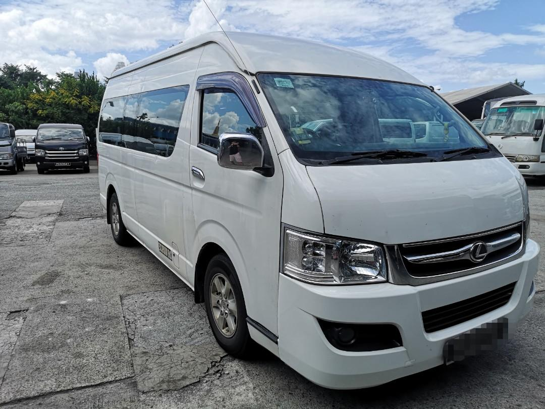 13+1 seater manual bus for rent