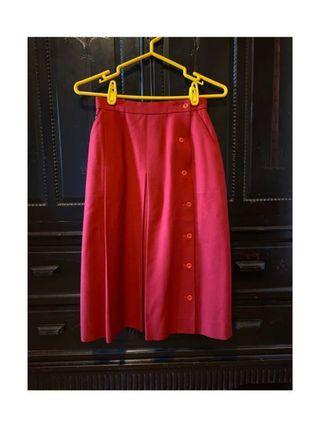 古著紅色100%毛料日制紅裙 年終特賣🎊