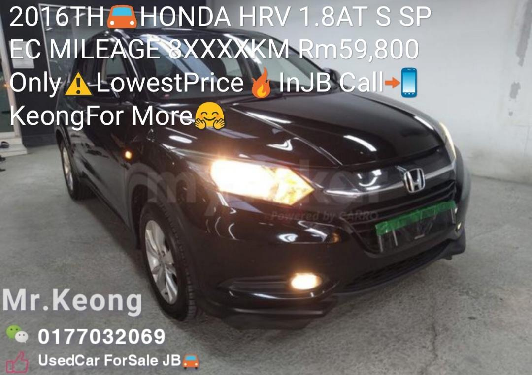 2016TH🚘HONDA HRV 1.8AT S SPEC MILEAGE 8XXXXKM Rm59,800 Only⚠️LowestPrice🔥InJB Call📲KeongFor More🤗