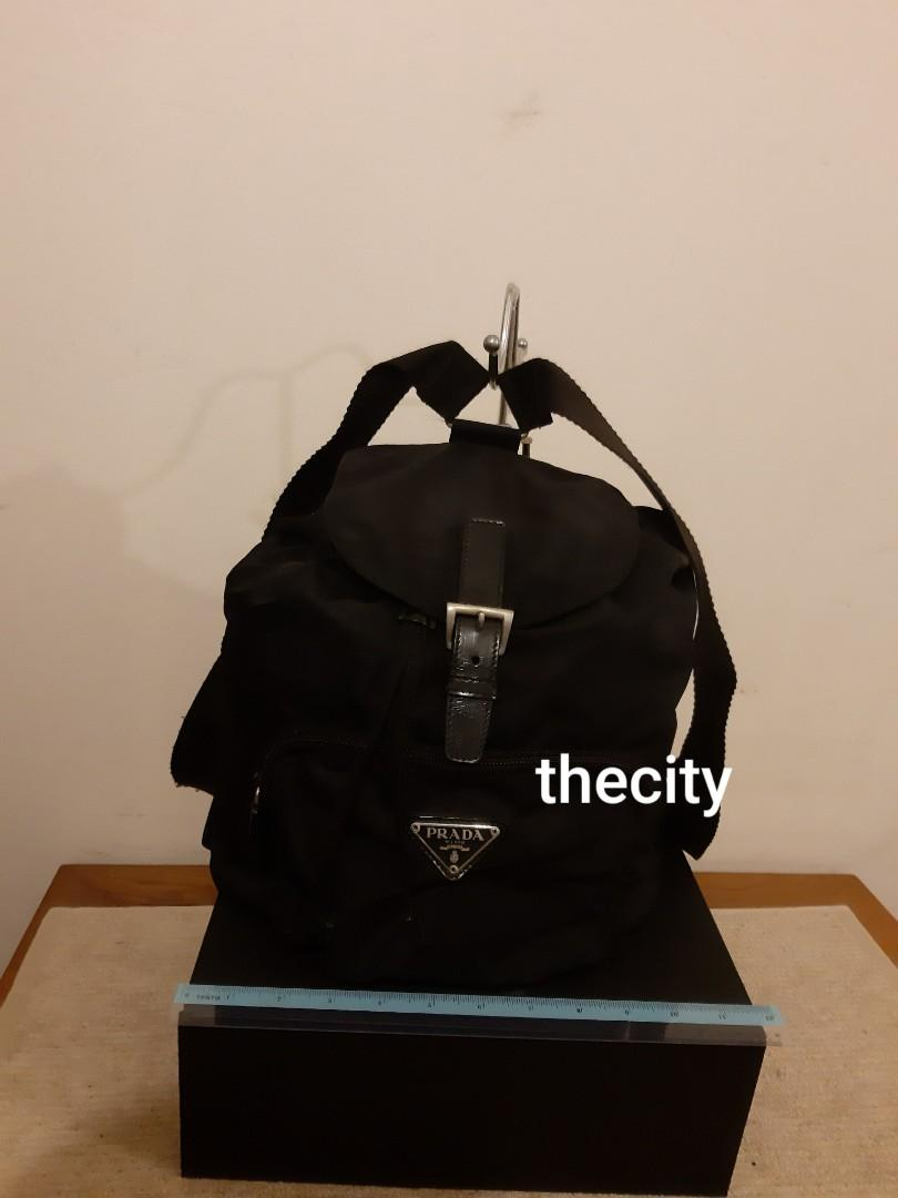AUTHENTIC PRADA BLACK NYLON CANVAS BACKPACK- CLEAN INTERIOR - (PRADA BACKPACKS NOW RETAIL AROUND RM 6000+)