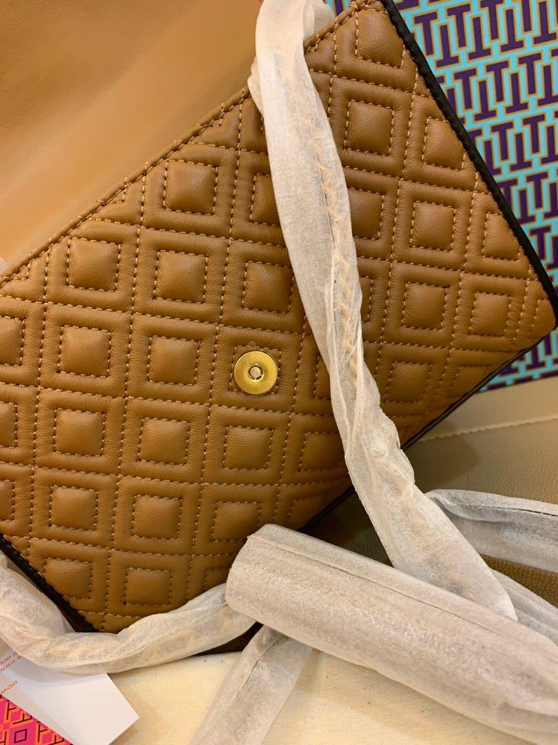 Authentic Tory Burch women Fleming colour block small convertible shoulder bag
