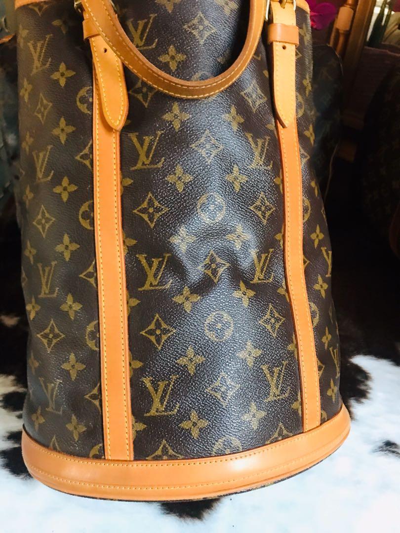 Authentic Vintage Louis Vuitton Bucket Bag GM monogram leather