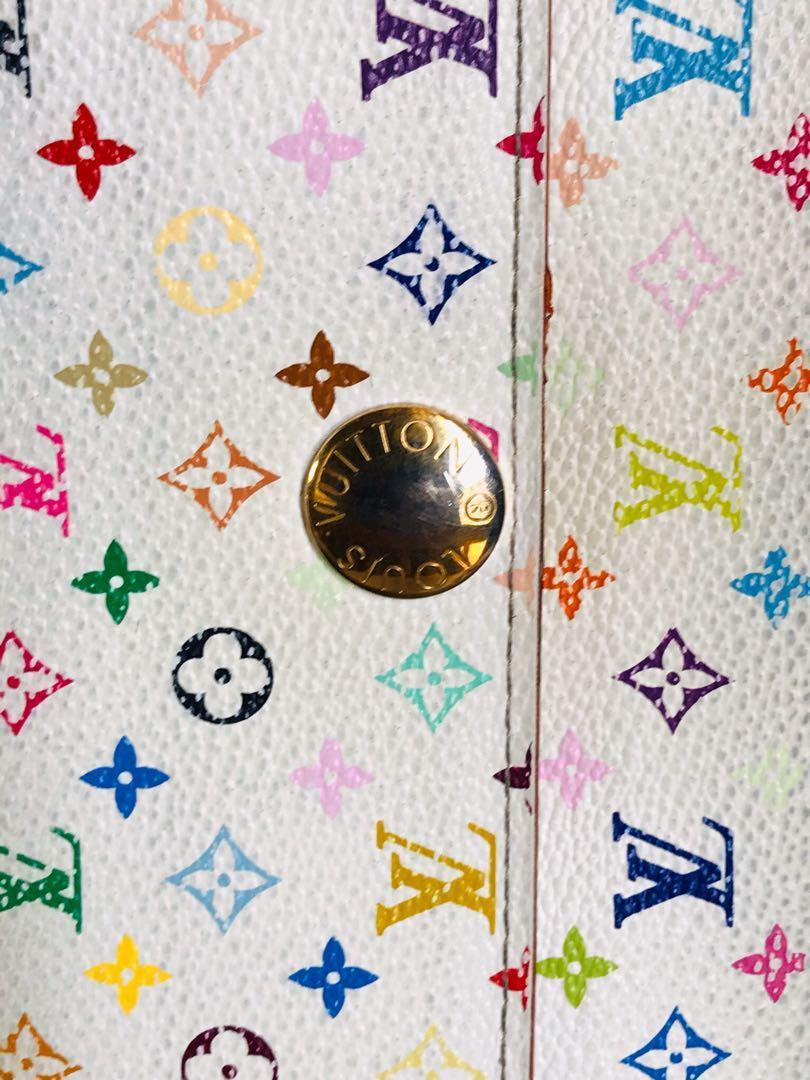 Authentic Vintage Louis Vuitton Sarah Wallet Multicoloured white