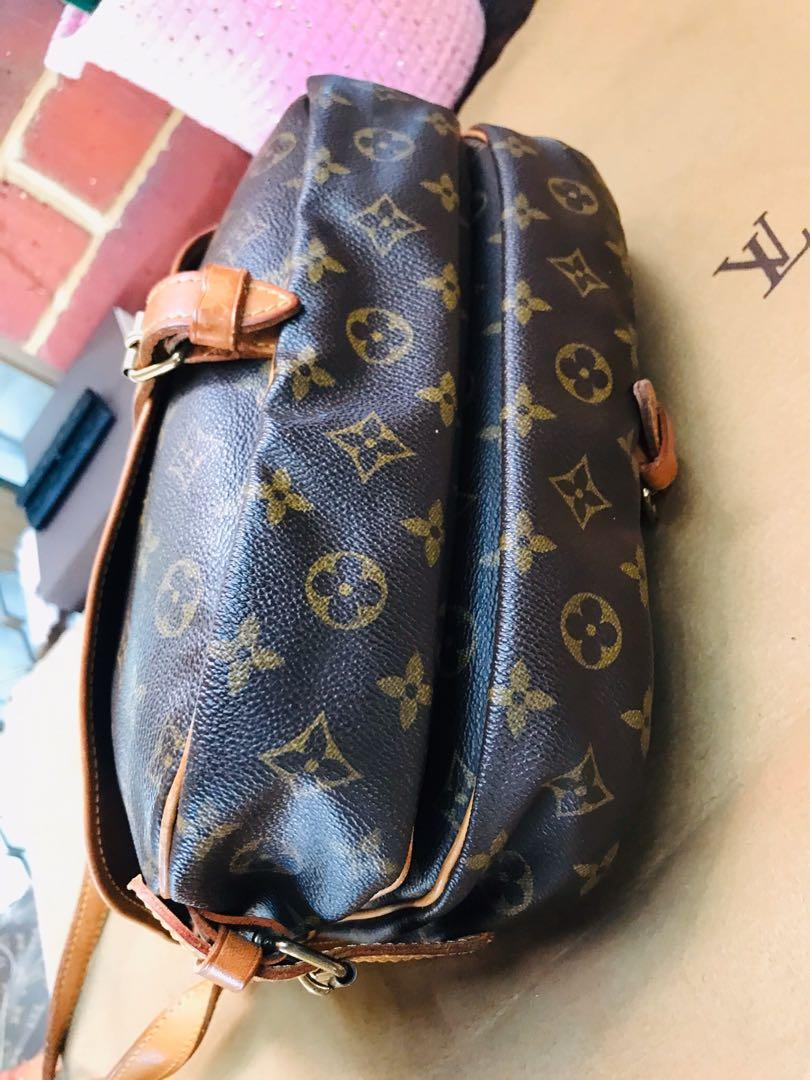 Authentic Vintage Louis Vuitton Saumur 30 Monogram Leather