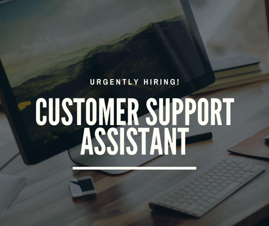 Customer Support Assistant (Urgently Hiring)