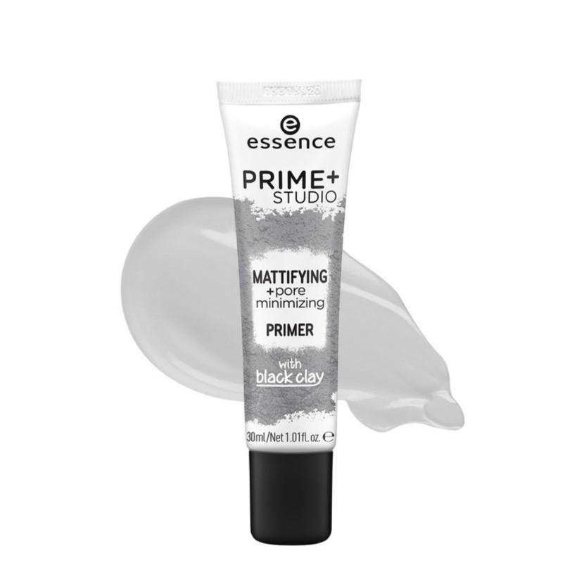 Essence Cosmetics Prime + Studio Mattifying & Pore Minimising with Black Clay Lightweight Primer