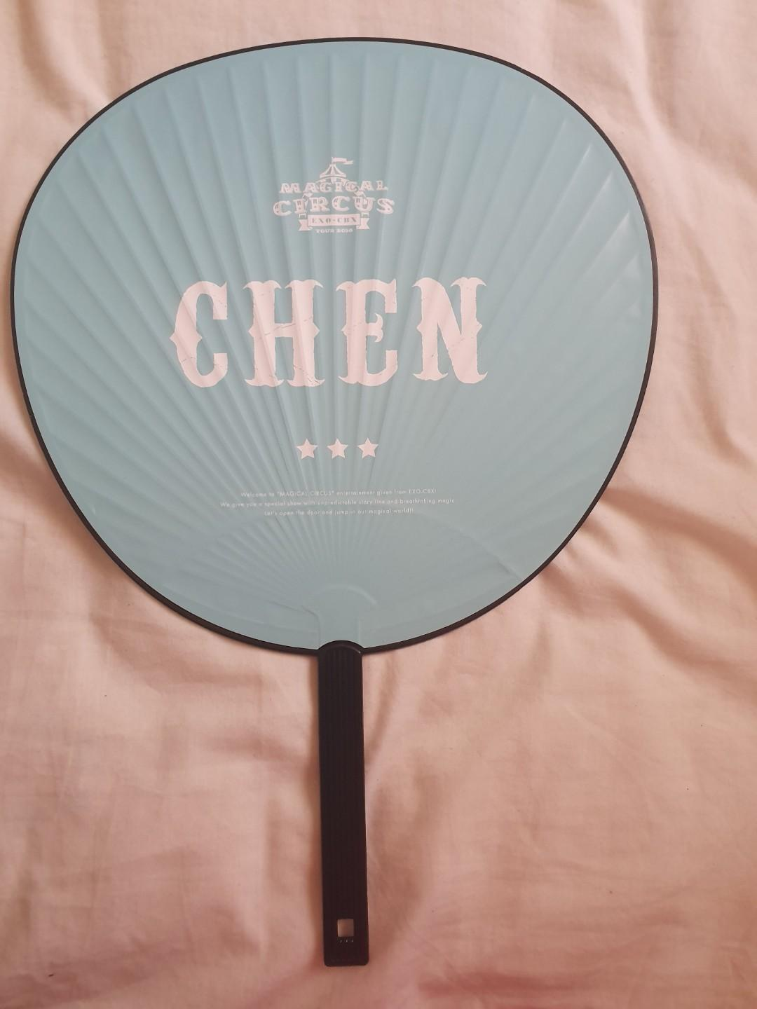 EXO CBX CHEN JAPAN FC Limited Ed MAGICAL CIRCUS 2018 PLANET Official Fan/ Uchiwa