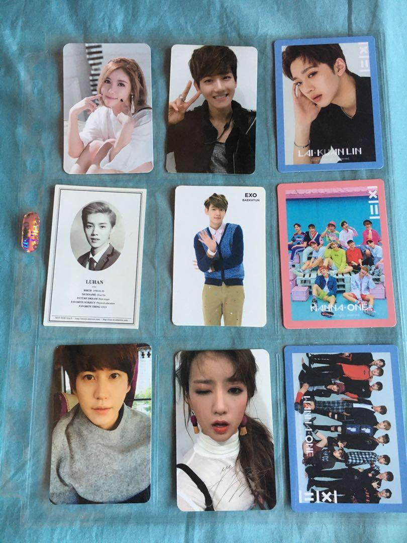 EXO HA SUNGWOON RED VELVET WANNA ONE ETC OFFICIAL PHOTOCARDS
