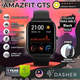 Free Shipping [ENGLISH] Amazfit GTS 1.65 inch AMOLED display 5 ATM Water Resistance Built In GPS with Silicone Strap
