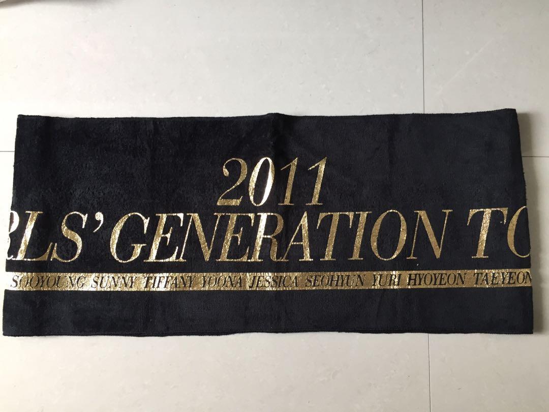 Girls Generation (SNSD) 2011 Tour Slogan Towel Official