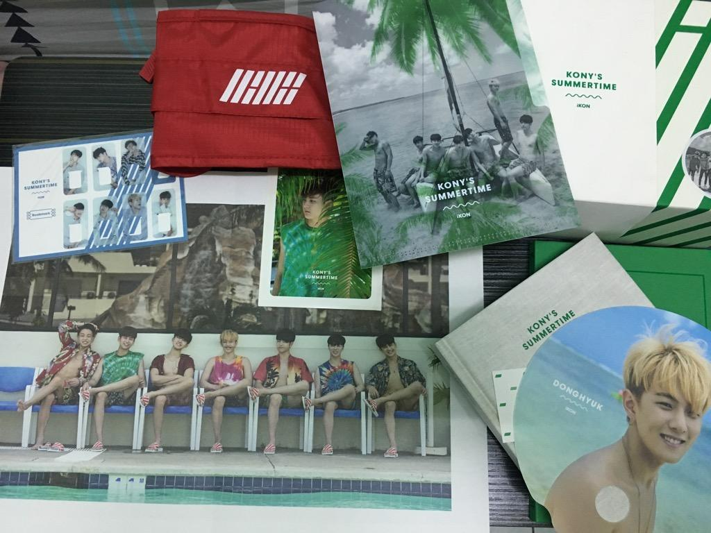 iKON KONY'S SUMMERTIME (with rare, limited photocard set)