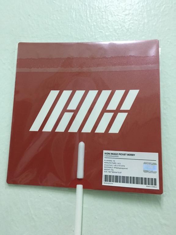 iKON OFFICIAL IMAGE PICKET / Hand Fan (B.I, BOBBY, YUNHYEONG)