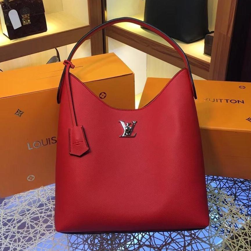 LV_2019 new ladies bag, calf leather solid color handbag, Louis Vuiton handbag
