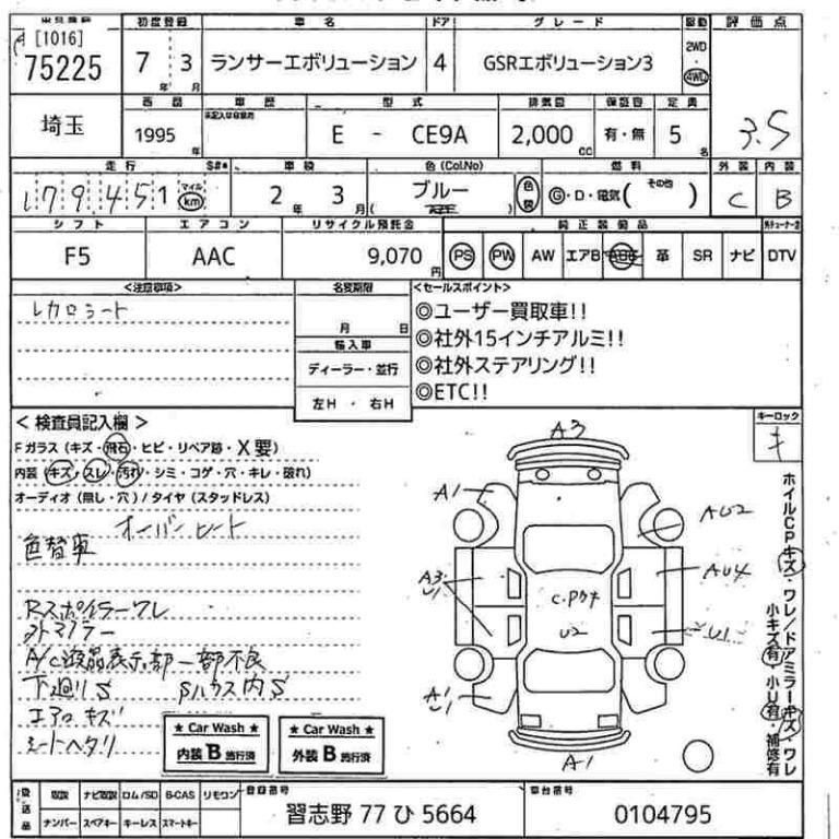 Mitsubishi Lancer GSR Evolution 3 Manual