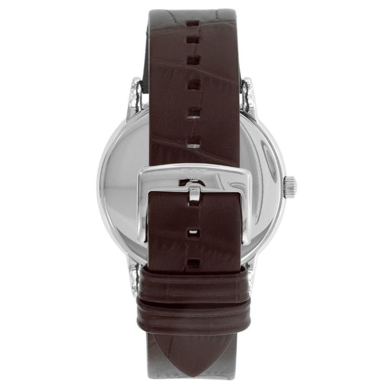 NEW Emporio Armani AR11096 Wath 20th Anniversary Collection Men's Leather Watch (Silver/Brown)