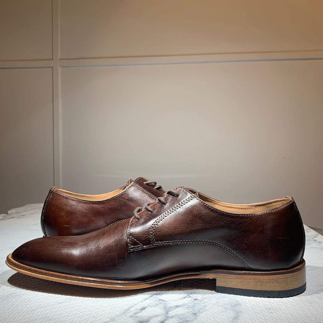 New Giorgio Brutini Gallivant Leather Oxford Shoes Brown Size 11.5