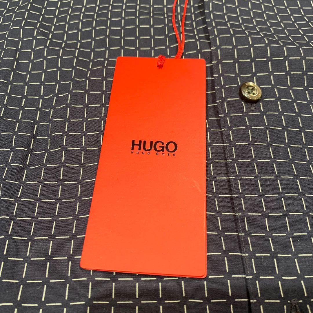 NWT Hugo Boss Mens Casual Short Sleeve    Print Slim Fit Woven Shirt S