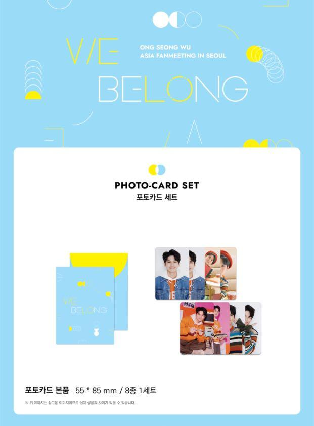 [PREORDER] ONG SEONG WU OFFICIAL GOODS - PHOTO CARD SET