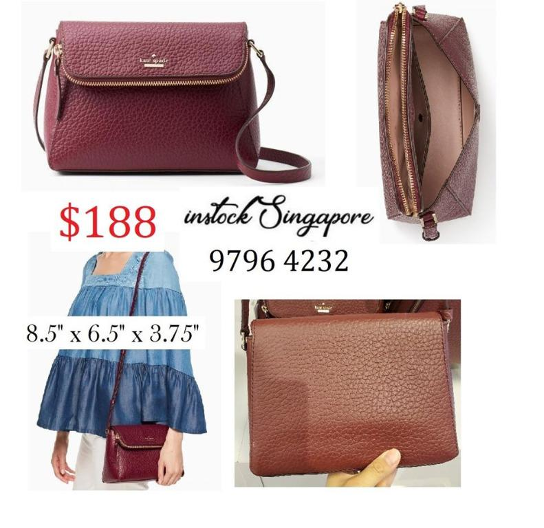 READY STOCK - AUTHENTIC - NEW  Kate Spade WKRU5955 Leather Carter Crossbody Handbag Purse WKRU5955