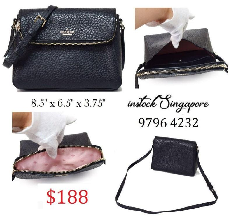 READY STOCK - AUTHENTIC - NEW Kate Spade WKRU5955 Leather Carter Crossbody Handbag Purse WKRU5955