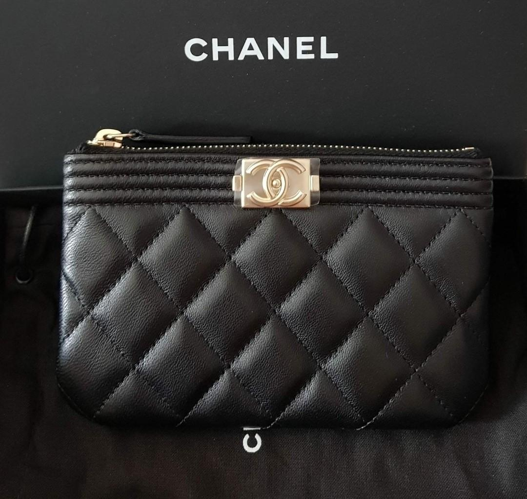 VERY VERY RARE Black Cavair highly sought after Authentic Chanel ocase wallet purse pouch (spacious 30-40 cards)