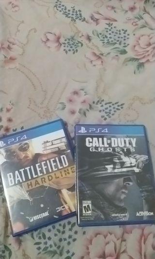 PS4 battlefield dan call of duty