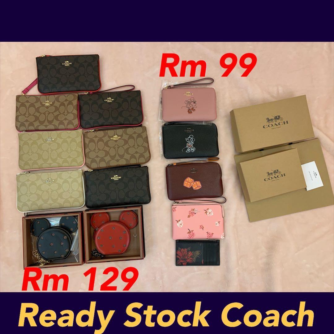 (070120)Ready Stock Authentic coach women wallet purse clutch sling bag wallet crossbody backpack belt wristlet lanyard card holder Marc Jacobs hbjjjhhjn