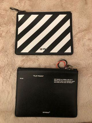 """Authentic Off-White """"Flat Pouch"""""""