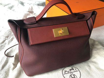 Hermes 24/24 29 Bordeaux and Rouge
