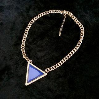 (買5送1)個性風三角型銅鍍金項鏈