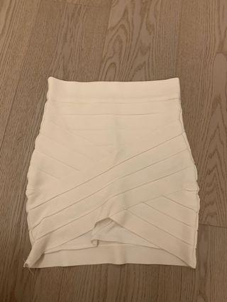 High waist White bandage skirt XS Herve leger style