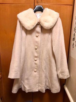 Japanese Liz Lisa style sweet pale pink fur 🎀coat brand new