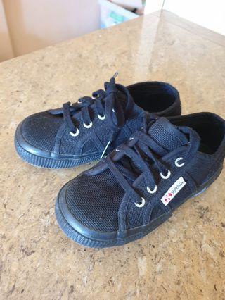 Superga black toddler shoes