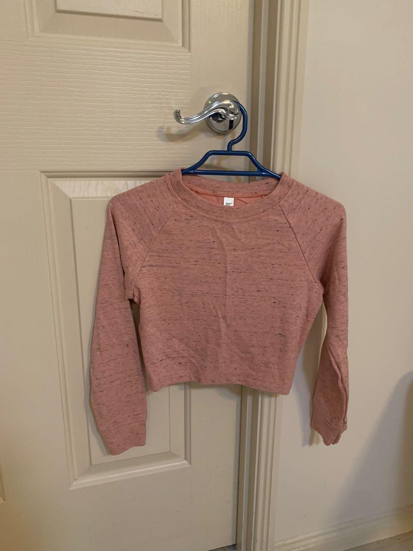 American Apparel Pink Jersey Sweater Long Sleeve Top Size XS