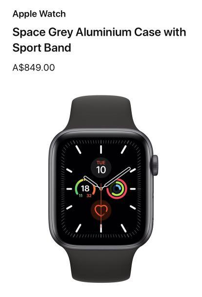 ❗APPLE WATCH SERIES 5 : 4MM : GPS + CELLULAR : SPACE GREY : RRP $849