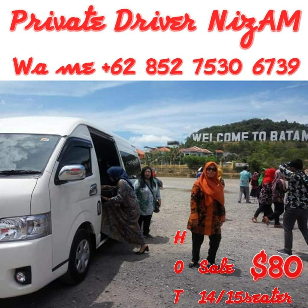 Batam Private Driver Hot sale Van 14/15   http://www.wasap.my/+6285275306739