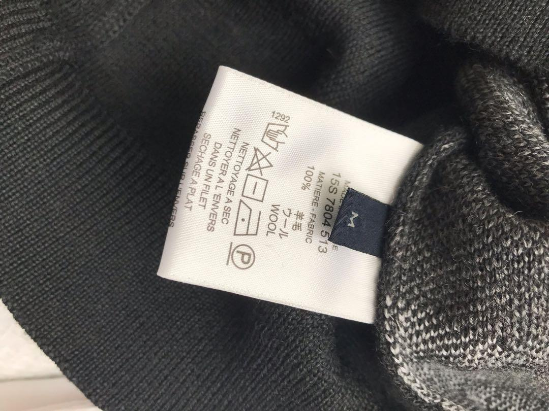 Bnwot mens Givenchy sweater Fair Isle grey wool sweater