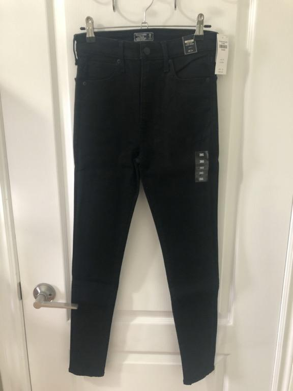 New with Tag - A&F Simone High Rise Super Skinny (Black) - 26 Short