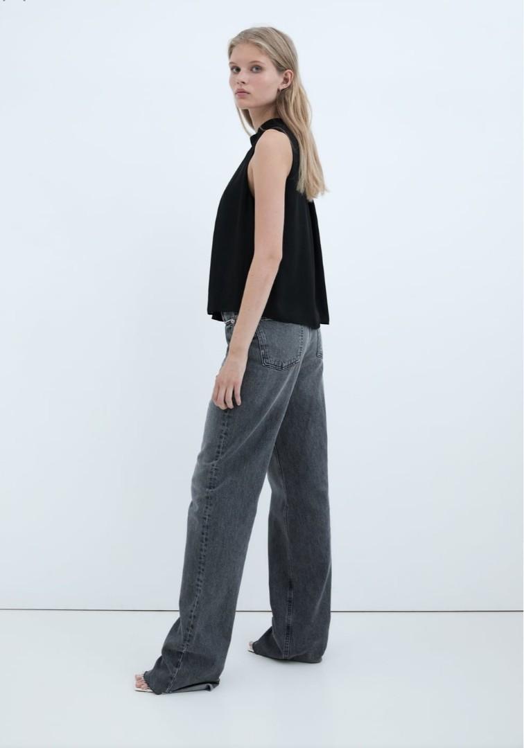 BRAND NEW: Zara Halter Neck Black Shirt.Was $40, Now $25.