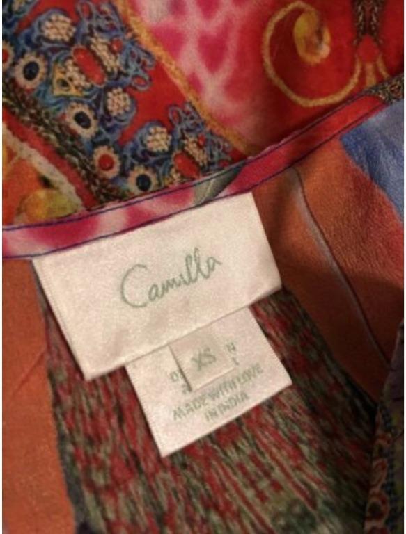 CAMILLA Franks | Sz XS | Showgirl Mini Silk Dress w Overlay