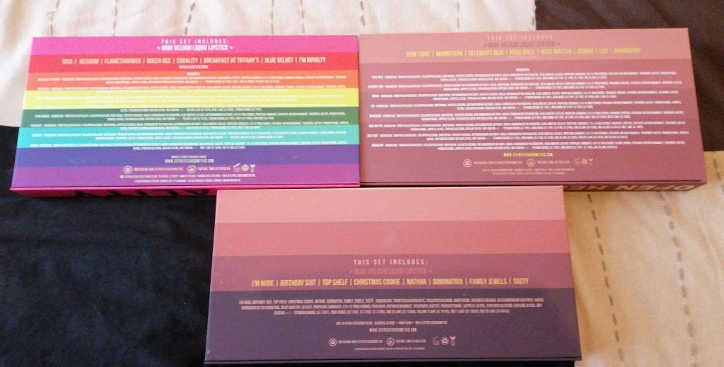 Jeffree Star Cosmetics Mini lip bundle TRIO Set, Equality, Vol 1 & 2 NEW & AUTH [Price is Firm]