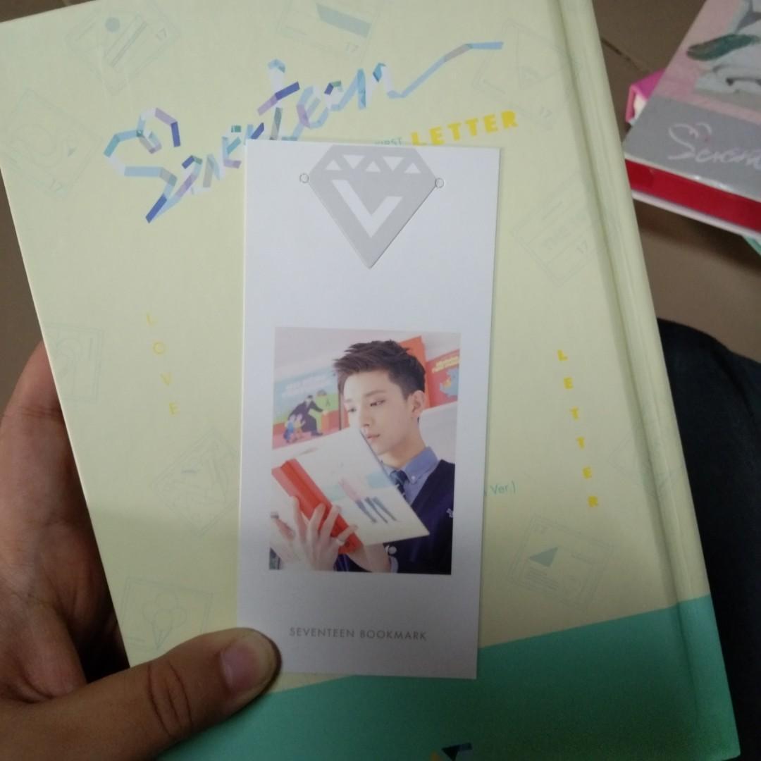 Seventeen Joshua Love Letter (Letter Ver.) Bookmark