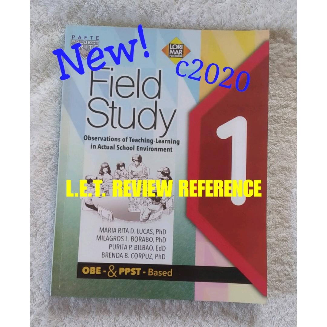 L.E.T. Review FIELD STUDY 1 Observation of Teaching-Learning in Actual School Environ