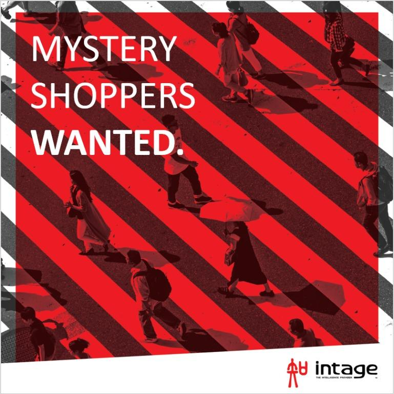 LOOKING FOR MYSTERY SHOPPERS - $30 to $120 per completed