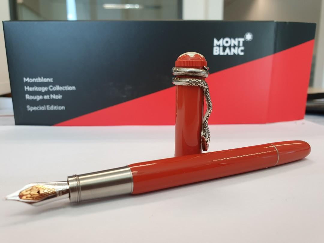 Montblanc Heritage Collection  Rough & Noir Coral Fountain Pen  110 yrs Anniversary Special edition