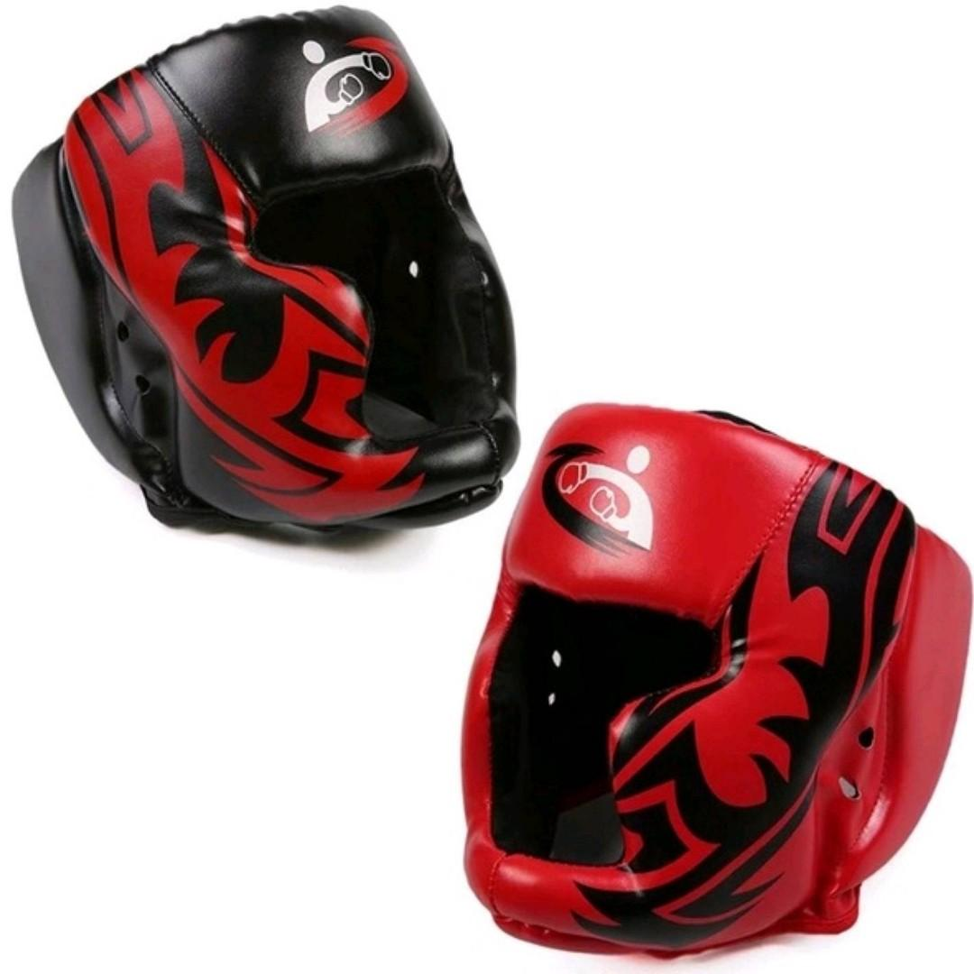 Muay Thai, MMA Sparring, Boxing Headgear with Cheek Protectors