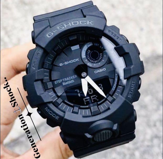 NEW🌟BLUETOOTH GSHOCK 🌟DIVER UNISEX SPORTS WATCH : 100% ORIGINAL AUTHENTIC CASIO G-SHOCK : GBA-800-1A / GBA800-1A / GA-800-1A (FULLY-BLACK)