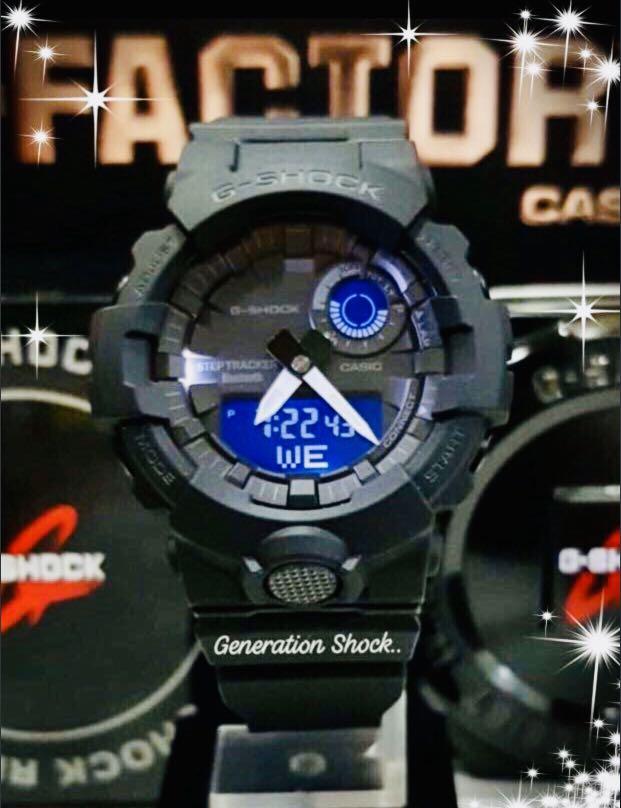 NEW🌟BLUETOOTH GSHOCK 🌟DIVER UNISEX SPORTS WATCH : 100% ORIGINAL AUTHENTIC CASIO G-SHOCK : GBA-800-1A / GBA800-1A / GA-800-1A (FULLY-BLACK)