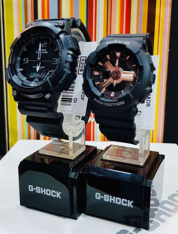 NEW🌟COUPLE💝SET : CASIO BABYG UNISEX SPORTS WATCH : 100% ORIGINAL AUTHENTIC : By BABY-G-SHOCK ( GSHOCK ) COMPANY :  AQ-S810W-1A2 + BA-110RG-1A / BA-110-1A